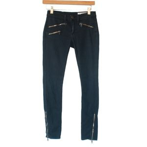 Rag & Bone Black Zipper Skinny Jegging Pants